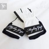 Mighty Grip Handschuhe weiß / Leder