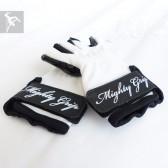 Mighty Grip Handschuhe weiß / Lack